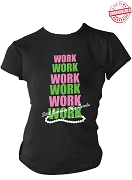 Alpha Kappa Alpha Work T-Shirt, Black - EMBROIDERED with Lifetime Guarantee