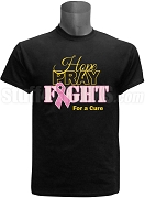 Alpha Phi Alpha Hope, Pray, Fight Breast Cancer Awareness Screen Printed T-Shirt, Black