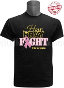 Alpha Phi Alpha Hope, Pray, Fight Breast Cancer Awareness T-Shirt, Black - EMBROIDERED with Lifetime Guarantee