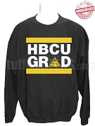 Alpha Phi Alpha HBCU Grad Crewneck Sweatshirt, Black - EMBROIDERED with Lifetime Guarantee