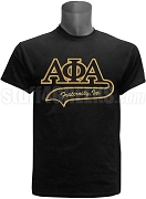 Alpha Phi Alpha Greek Letter Tail Patch T-Shirt, Black (NS)