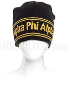 Alpha Phi Alpha Reversible Beanie Hat with Organization Name (SAV)