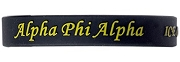 Alpha Phi Alpha Silicon Wristband with Organization Name, Black