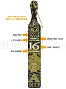 Alpha Phi Alpha Printed Line Number Paddle with Crossing Information (CQ)