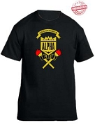 Alpha Phi Alpha School Daze T-Shirt, Black - EMBROIDERED with Lifetime Guarantee