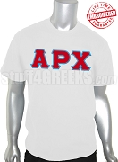 Alpha Rho Chi Men's Greek Letter T-Shirt, White - EMBROIDERED with Lifetime Guarantee