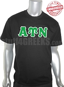 Alpha Upsilon Nu Greek Letter T-Shirt, Black - EMBROIDERED with Lifetime Guarantee