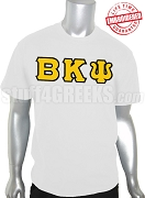 Beta Kappa Psi Greek Letter T-Shirt, White - EMBROIDERED with Lifetime Guarantee
