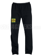 Chi Eta Phi Run DMC Screen Printed Sweatpants, Black (AB)