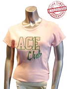 Pink/Kelly Ace Club T-Shirt - EMBROIDERED with Lifetime Guarantee