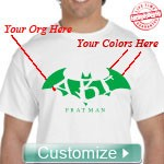 Custom Fratman T-Shirt - EMBROIDERED with Lifetime Guarantee
