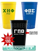 22 oz. Greek Letter Stadium Cups - Sold In Sets of 100 (Qty 1 = 100 Cups)