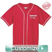 Personalized Embroidered Cloth FratBrat Baseball Jersey - EMBROIDERED with Lifetime Guarantee (AUG)