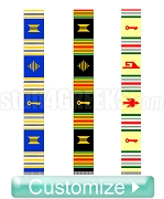 Custom Kente Graduation Stole (Allow 6-8 Weeks for Production)