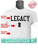 Custom Legacy T-Shirt - EMBROIDERED with Lifetime Guarantee
