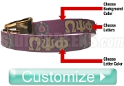 Custom Full-Color Belt with Letters and Crest (C4)