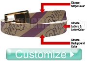 Custom Full-Color Belt with Stripes (C4)