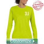 Custom Fitted Athletic Performance T-Shirt (Ladies Long Sleeve) - EMBROIDERED with Lifetime Guarantee