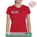 Custom Fitted Athletic Performance T-Shirt (Ladies Short Sleeve) - EMBROIDERED with Lifetime Guarantee