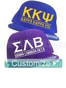 Custom Greek Letter Snapback Cap (AB)