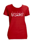 Diva Black History Screen Printed T-Shirt, Red