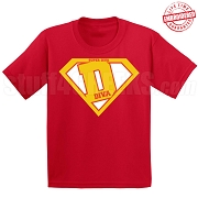 Devastating Divas Super D T-Shirt, Red - EMBROIDERED with Lifetime Guarantee