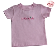 Pretty in Pink T-shirt - EMBROIDERED with Lifetime Guarantee