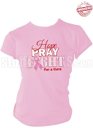 Diva Hope, Pray, Fight Breast Cancer Awareness T-Shirt, Pink - EMBROIDERED with Lifetime Guarantee