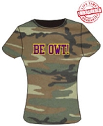 Be Owt Ladies Camo Ladies Tee - EMBROIDERED with Lifetime Guarantee