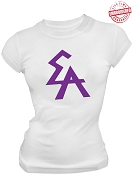 Elogeme Adolphi Logo Letter T-Shirt, White - EMBROIDERED with Lifetime Guarantee