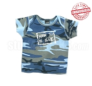 Born to be Blue Camo Phi Beta Sigma T-shirt - EMBROIDERED with Lifetime Guarantee