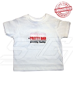 Pretty Mom + Pretty Dad = Pretty Baby T-Shirt - EMBROIDERED with Lifetime Guarantee