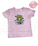 A Product of P/G Love Pink T-shirt - EMBROIDERED with Lifetime Guarantee