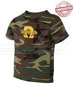 Que-Tee Pie Camo T-shirt - EMBROIDERED with Lifetime Guarantee
