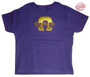 Que-Tee-Pie (Omega Psi Phi) T-shirt -EMBROIDERED with Lifetime Guarantee