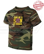 Son of a Son of Thunder Camo T-shirt - EMBROIDERED with Lifetime Guarantee