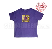 Son of a Son of Thunder Omega Psi Phi T-shirt - EMBROIDERED with Lifetime Guarantee