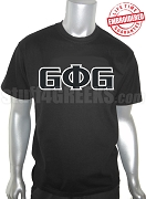 Groove Phi Groove T-Shirt with Letters, Black - EMBROIDERED with Lifetime Guarantee