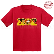 Gamma Zeta Rho T-Shirt with Crest and Founding Year, Red - EMBROIDERED with Lifetime Guarantee