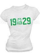 Iota Phi Lambda Screen Printed T-Shirt with Founding Year and Crest, White