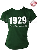 Iota Phi Lambda T-Shirt with Founding Year and Organization Name, Forest Green - EMBROIDERED with Lifetime Guarantee