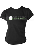 Iota Phi Lambda Screen Printed T-Shirt with Rose and Organization Name, Black
