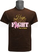 Iota Phi Theta Hope, Pray, Fight Breast Cancer Awareness Screen Printed T-Shirt, Brown