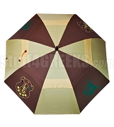 Iota Phi Theta Auto Open Golf Umbrella with Shield and Centaur, Brown/Gold (NS)