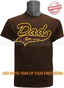 Embroidered Iota Phi Theta Dad Est. Tail Tee - EMBROIDERED with Lifetime Quality Guarantee