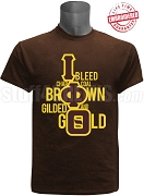 Iota Phi Theta I Bleed T-Shirt, Brown - EMBROIDERED with Lifetime Guarantee