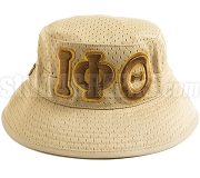 Iota Phi Theta Floppy Bucket Hat with Greek Letters, Tan (SAV)