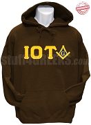 Iota Phi Theta/Mason Square and Compass Sweatshirt, Brown - EMBROIDERED with Lifetime Guarantee