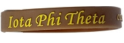Iota Phi Theta Silicon Wristband with Organization Name, Brown