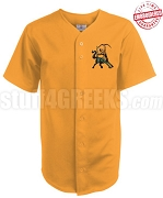 Iota Phi Theta Cloth Baseball Jersey with Centaur Icon, Gold (TW) - EMBROIDERED WITH LIFETIME GUARANTEE